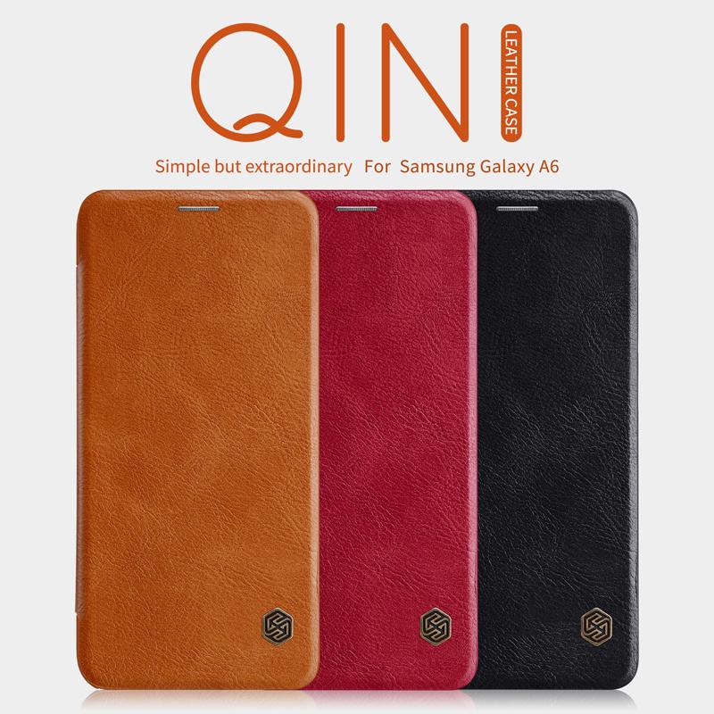 เคสฝาพับ NILLKIN Qin Leather Case Galaxy A6+ / A6 Plus 2018