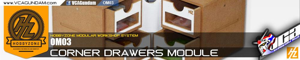 OM03 CORNER DRAWERS MODULE