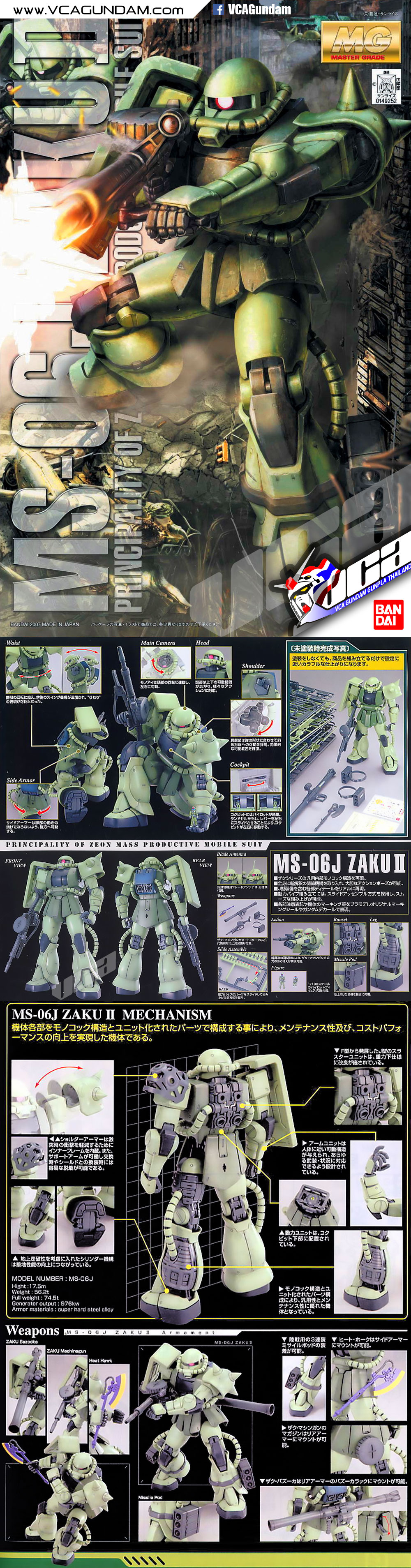 MG MS-06J ZAKU 2 VER 2.0 ซาคุ 2