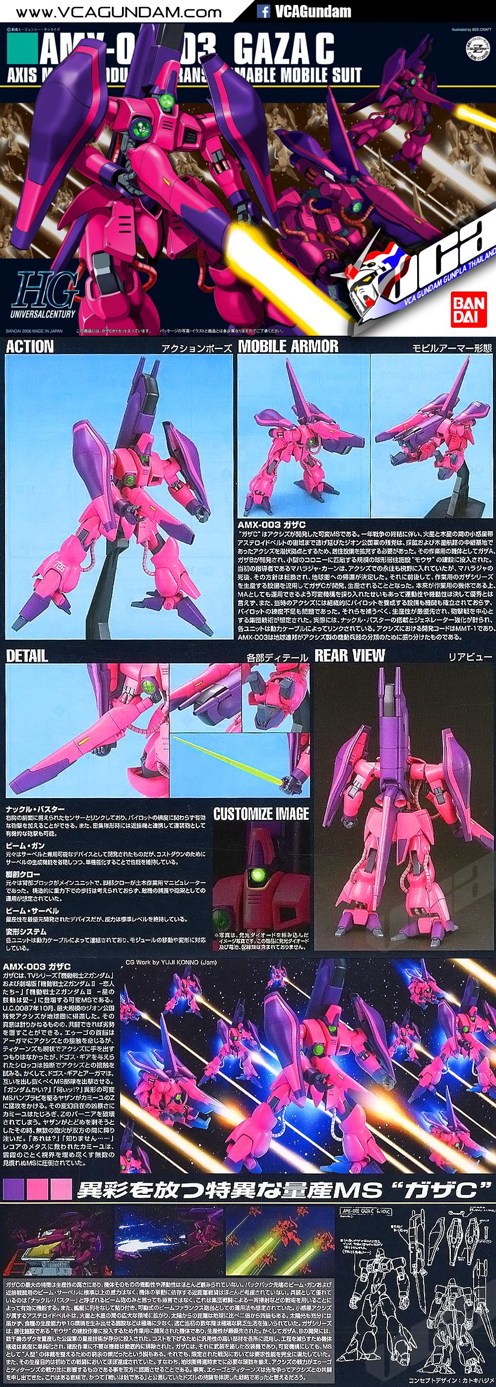 HG AMX-003 GAZA C (NORMAL USE) กาซา C