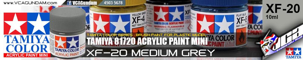 TAMIYA 81720 ACRYLIC XF-20 MEDIUM GREY