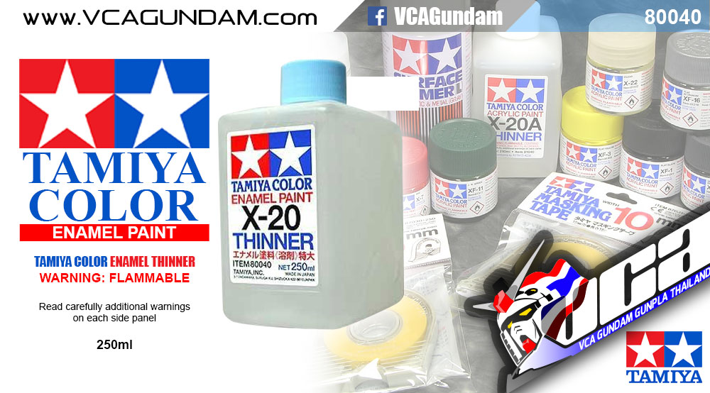 TAMIYA 80040 ACRYLIC X-20 ENAMEL THINNER 250ML
