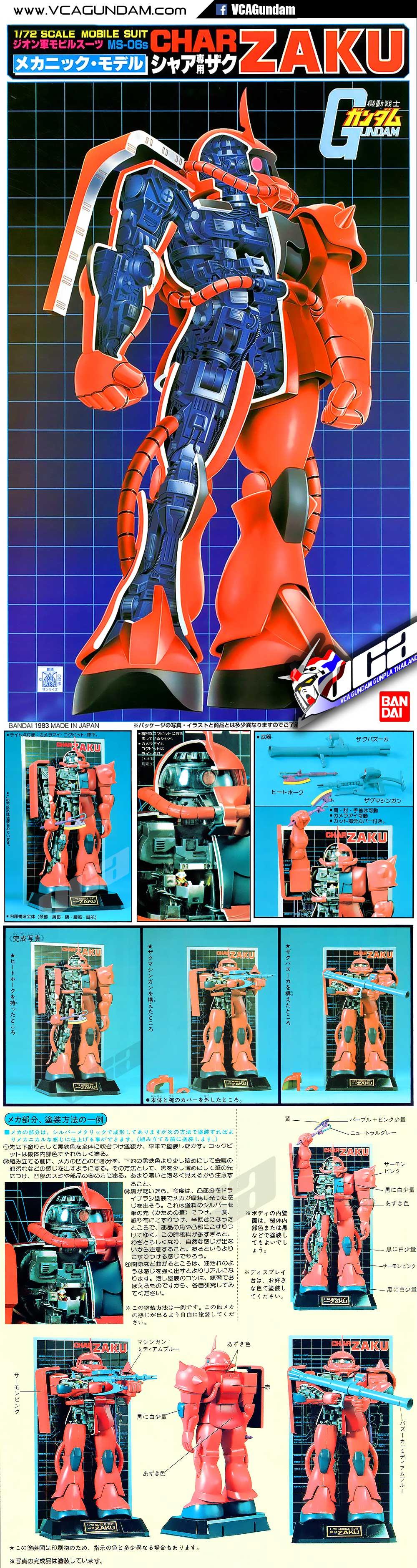 CLASSIC 1/72 MS-06S ZAKU II (MECHANICS MODEL) ซาคุ 2