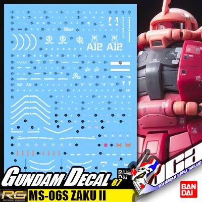 GUNDAM DECAL | RG MS-06S ZAKU II