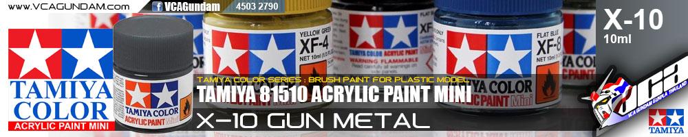 ACRYLIC X-10 GUN METAL