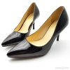 """รองเท้าคัทชูส้นเข็ม หนังแก้ว Zanotti [3""""][Black]"""