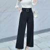 กางเกงทำงานผู้หญิงสีดำ ทรงกระบอก สวย ดูดี สไตล์สาวออฟฟิศ