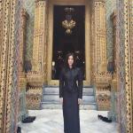 พีค ภัทรศยา สวยสง่า ในชุดไทยจิตรลดาสีดำ