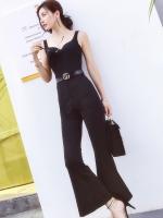 จั๊มสูทกางเกงขายาวสีดำ สวยเก๋ สุดชิค ดูมั่นใจ สไตล์เท่ๆ