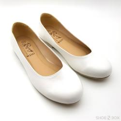รองเท้าคัชชูส้นแบนRovy [W1107] - White