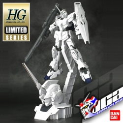 HG UNICORN GUNDAM (UNICORN MODE) + HEAD DISPLAY BASE