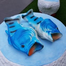รองเท้าแตะปลา สีฟ้า [Size30-41]