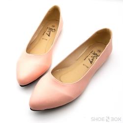รองเท้าคัชชูส้นแบนRovy [W1106] - Pink