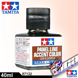 TAMIYA PANEL LINE ACCENT BROWN สีน้ำตาล