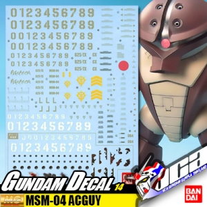 GUNDAM DECAL | MG MSM-04 ACGUY