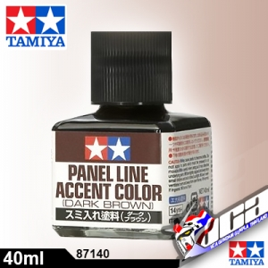 TAMIYA PANEL LINE ACCENT DARK BROWN น้ำตาลเข้ม