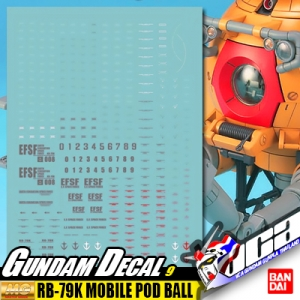 GUNDAM DECAL | MG RB-79K MOBILE POD BALL