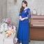 ชุดออกงานยาวสีน้ำเงิน ลุคเรียบหรู สวยสง่า ดูดีมากๆๆๆ เหมาะสำหรับใส่ออกงาน ไปงานแต่งงาน ชุดแม่เจ้าสาว ชุดถือขันหมาก