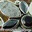 ▽หินดาวตกกีเบียน GIBEON METEORITE - BLACK ONYX - SMOKY TOPAZ-จี้เงินแท้ 925 (5.2g) thumbnail 3