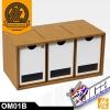 OM01B DRAWERS MODULE X 3