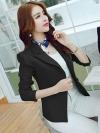 เสื้อสูททำงานผู้หญิงสีดำ ทรงสวย ลุคสวย ดูดี สง่า