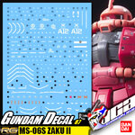 GUNDAM DECAL | RG MS-06S ZAKU II