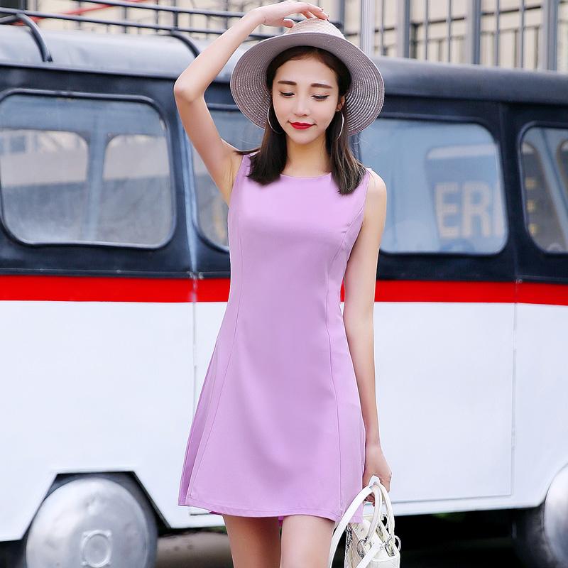 ชุดเดรสสีม่วงมาใหม่ราคาถูก