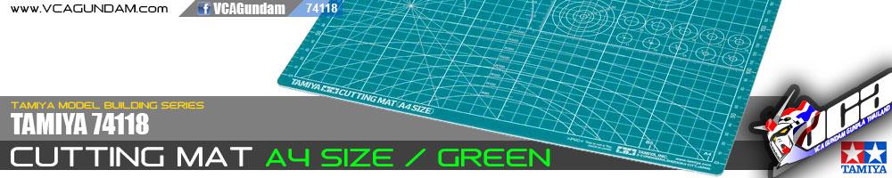 TAMIYA 74118 CUTTING MAT A4/GREEN